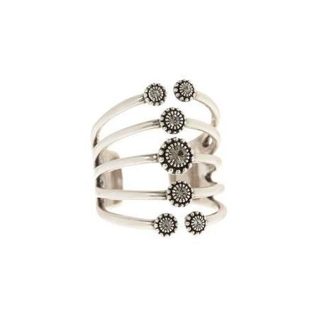 Luv AJ The Moroccan Stud Statement Ring - Silver