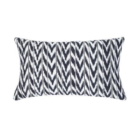 "Archive New York Toto Black + White Ikat Pillow - 12"" x 20"""