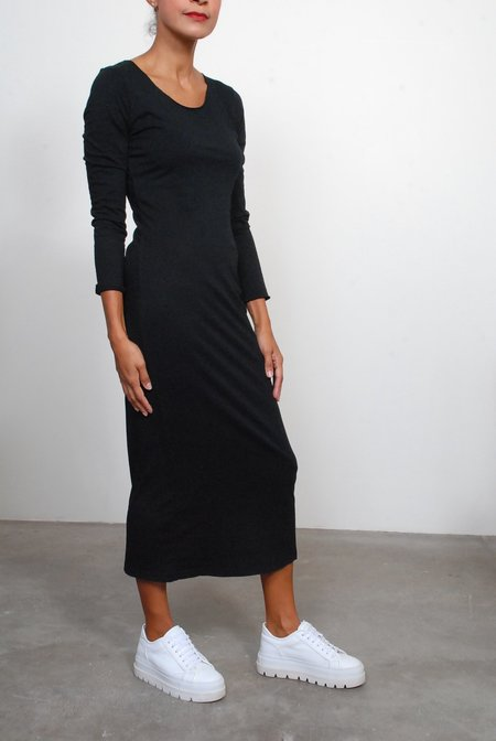 Raquel Allegra Fitted Long Sleeve Dress - Black