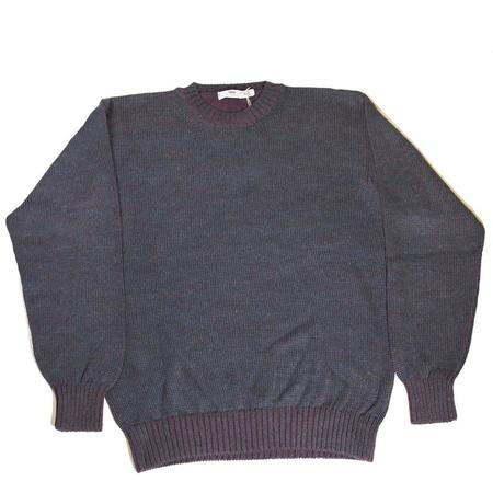 Inis Meáin Plated Alpaca C/n Knit Crewneck Sweater - Navy