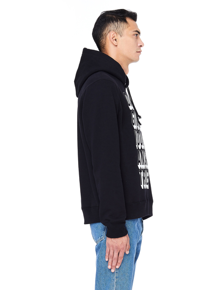 Undercover Printed Black Cotton Hoodie