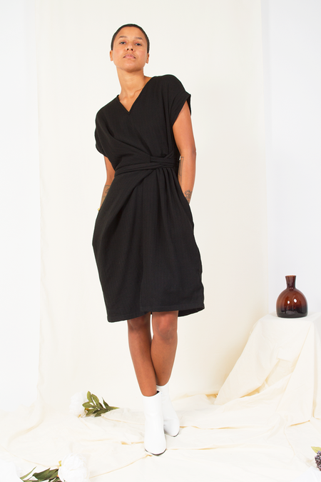 Rujuta Sheth August Half Wrap Dress - Noir