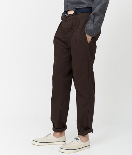 Unisex MAGILL Hepburn Pleated Chino - Brown