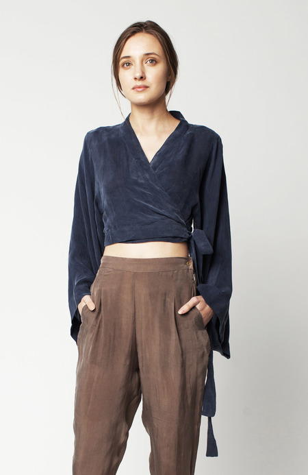 Hannayujin Mina Crop Hanbok Top - Oxford