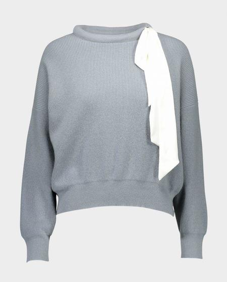 Allude Silk Tie Sweater