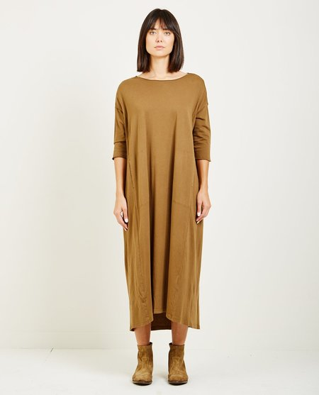 Raquel Allegra SUEDED BABY JERSEY COCOON DRESS