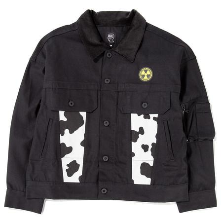 Brain Dead Cow Club Trucker Jacket - Black/Cow