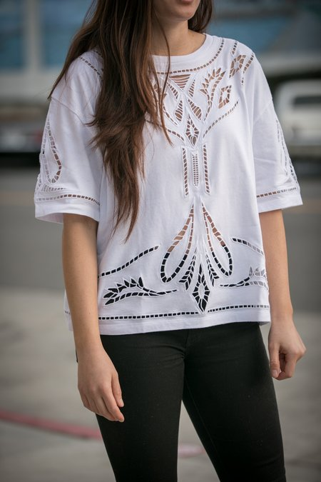 Levi's Made & Crafted Cotton Lace Top - White