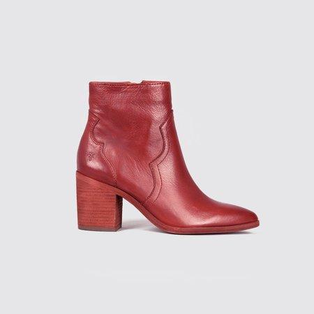 Frye Flynn Short Inside Zip Boots - Red Clay