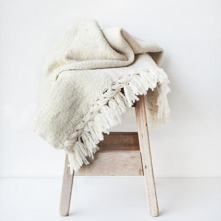 Valiente Goods Mexican Organic Wool Throw - Oatmeal