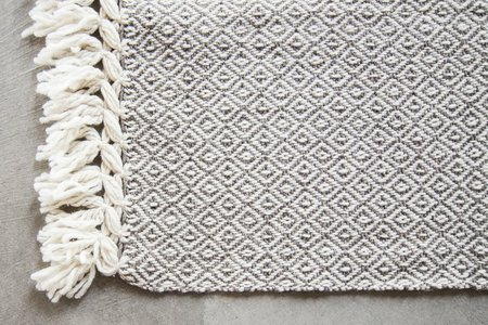 Valiente Goods Mexican Organic Wool Throw - Taupe/Cream