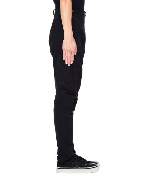 Leon Emanuel Blanck Cargo Pocket Cotton Pants - Black