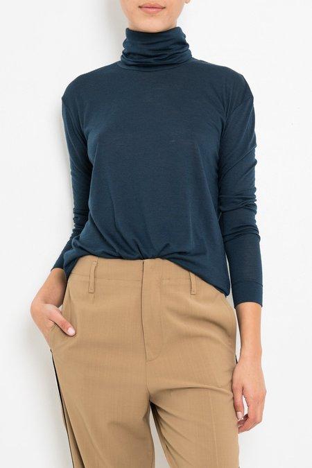 Giada Forte Wool Jersey Tourte Neck Tshirt - Notte