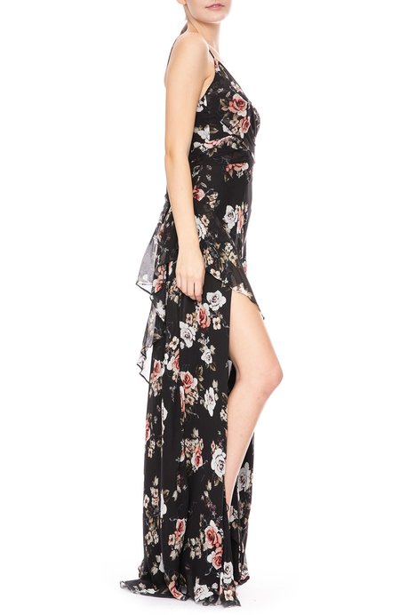 Nicholas Side Slit Dress - Floral