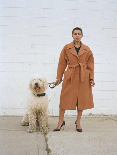 Lera Pivovarova Pola Wrap Coat - Camel/Amber