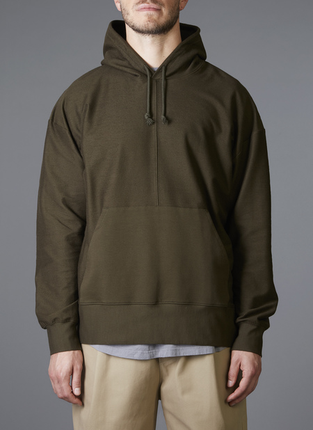 Grei. Ultra-Fine Terry The Big Hoodie - Army Green