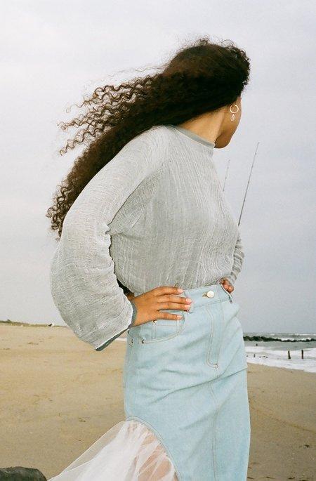 Halo Labels Gauze Sweater - Gray