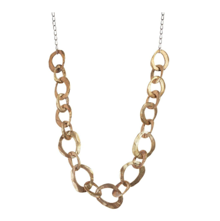 Chikahisa Studio Chain Statement Necklace - Bronze