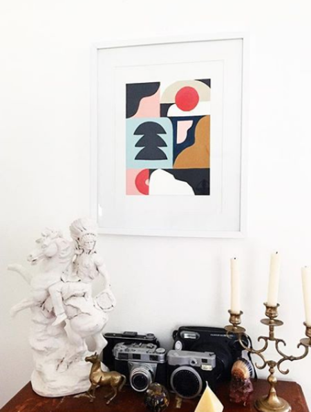 Ruhling Woven Columns Art Print by Kathleen Fanto