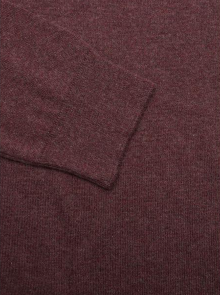 Knowledge Cotton Apparel Basic O-Neck Cotton Cashmere Sweater - Chocolate