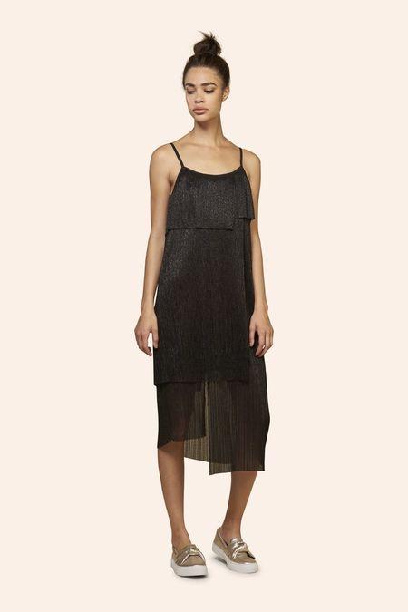 Kinly SHINE MULTI TIER DRESS - Black