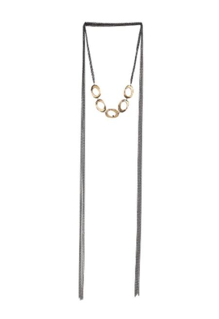 Chikahisa Studio 5 Oval Wrap Necklace - Bronze