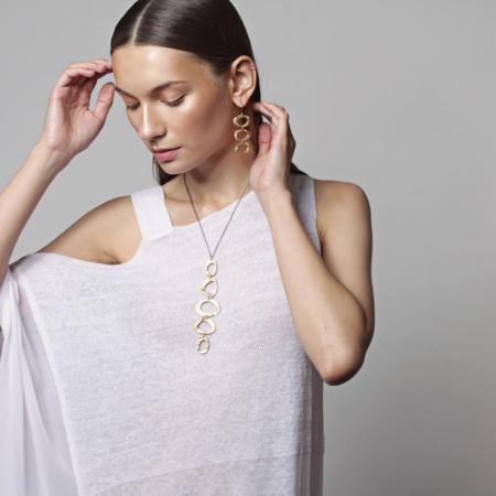 Chikahisa Studio Mystic 5 Oval Necklace - Bronze