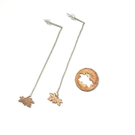 Micah Adams Penny Leaves Dangle Earrings