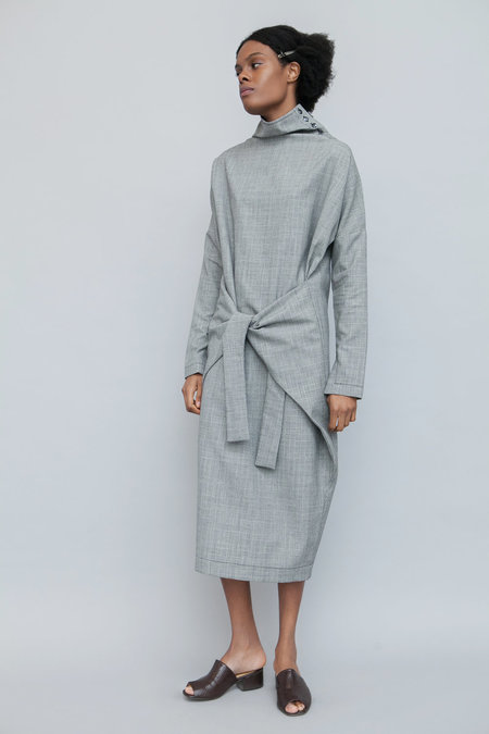Lera Pivovarova Lamar Wool Dress - Grey