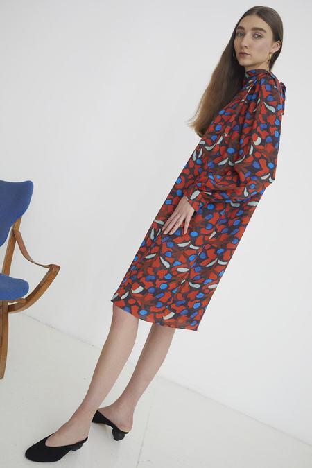 WHiT Alice Dress - Elderberry Print