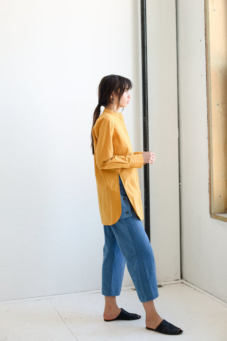 Mijeong Park Patch Pocket Shirt - Mustard