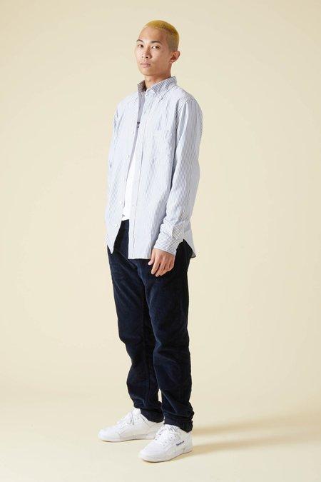 TSS Silk Stripe B.D. Shirt - Navy