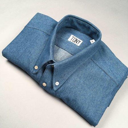 Tony Shirtmakers Medium Wash Buttoned Down - Denim