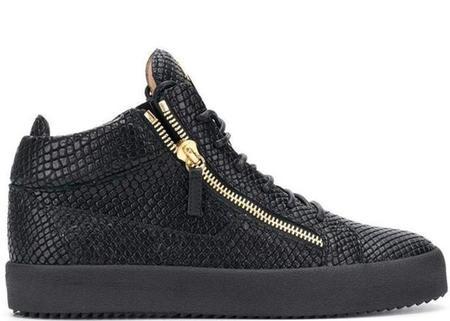 Giuseppe Zanotti Kriss Lizard-Effect Sneakers - Black