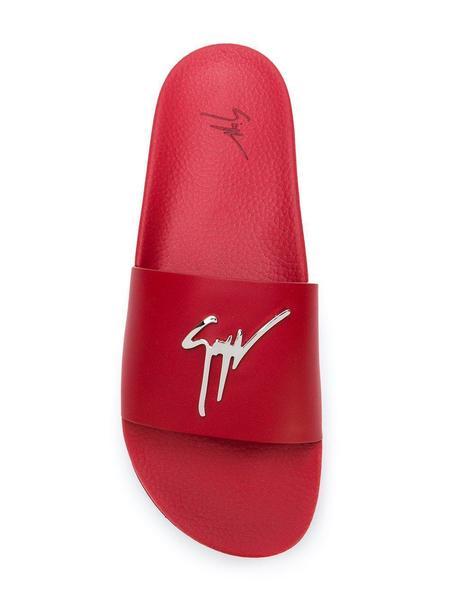 Giuseppe Zanotti Logo Plaque Slides - Red