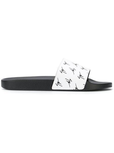 Giuseppe Zanotti Logo Slides - White
