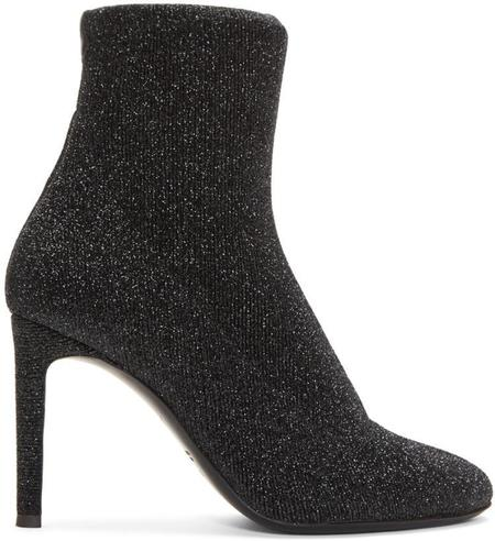 Giuseppe Zanotti Natalie Stretch Lurex Boots - Black