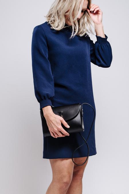 A.P.C. ROBE JULIE MARINE DRESS - BLUE