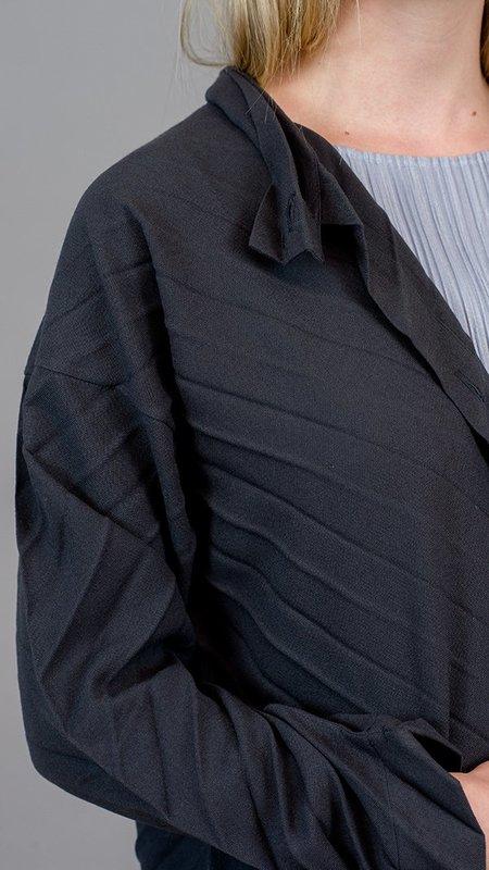 Issey Miyake Angle Pleats Jacket - Charcoal