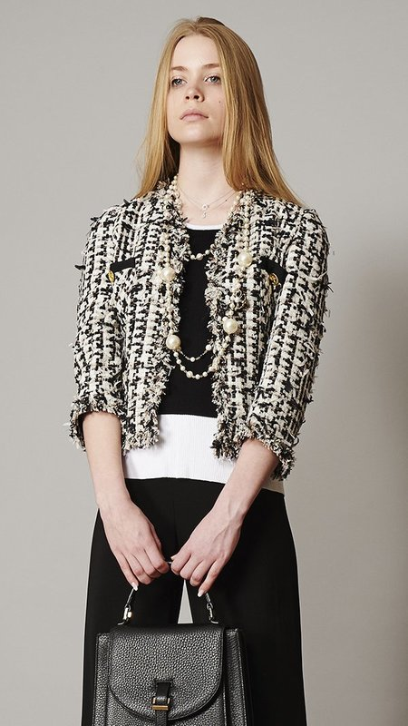 Edward Achour Paris Blazer - Black/White