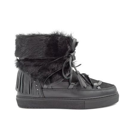 Inuikii Fringe Rabbit Sneakers - Black