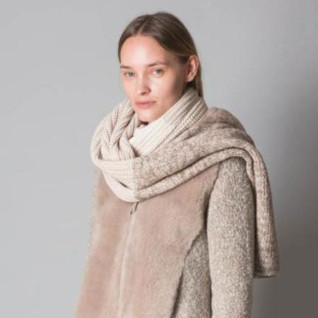 Fabiana Filippi Heathered Merino Wool Scarf - Neutrals