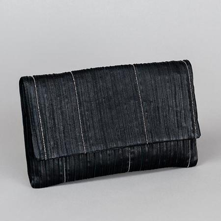 Fabiana Filippi Beaded Leather Clutch - Black
