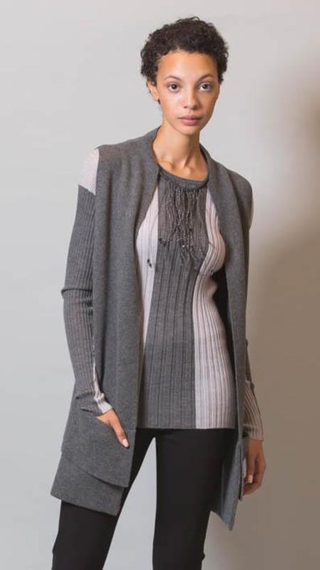 Lorena Antoniazzi Long Vest With Deep Pockets