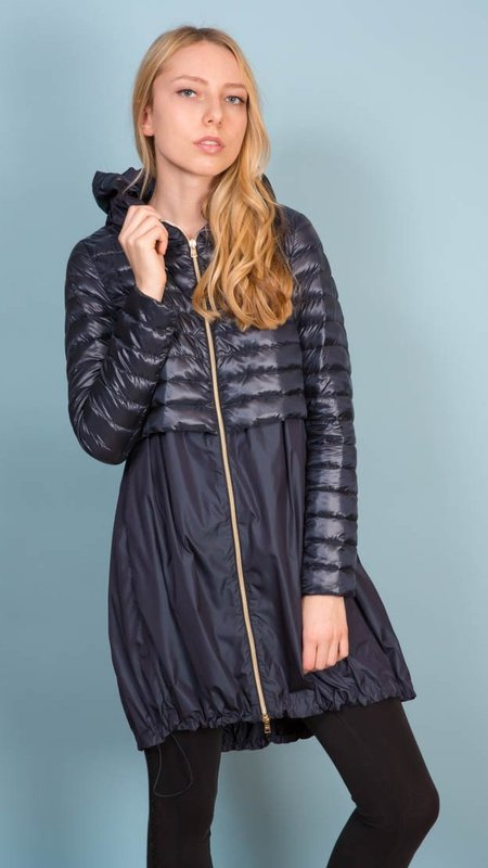 Herno Parka With Hood - Navy
