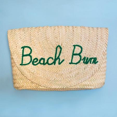 "Poolside Bags L'Enveloppe Clutch ""Beach Bum"" Straw Bag"