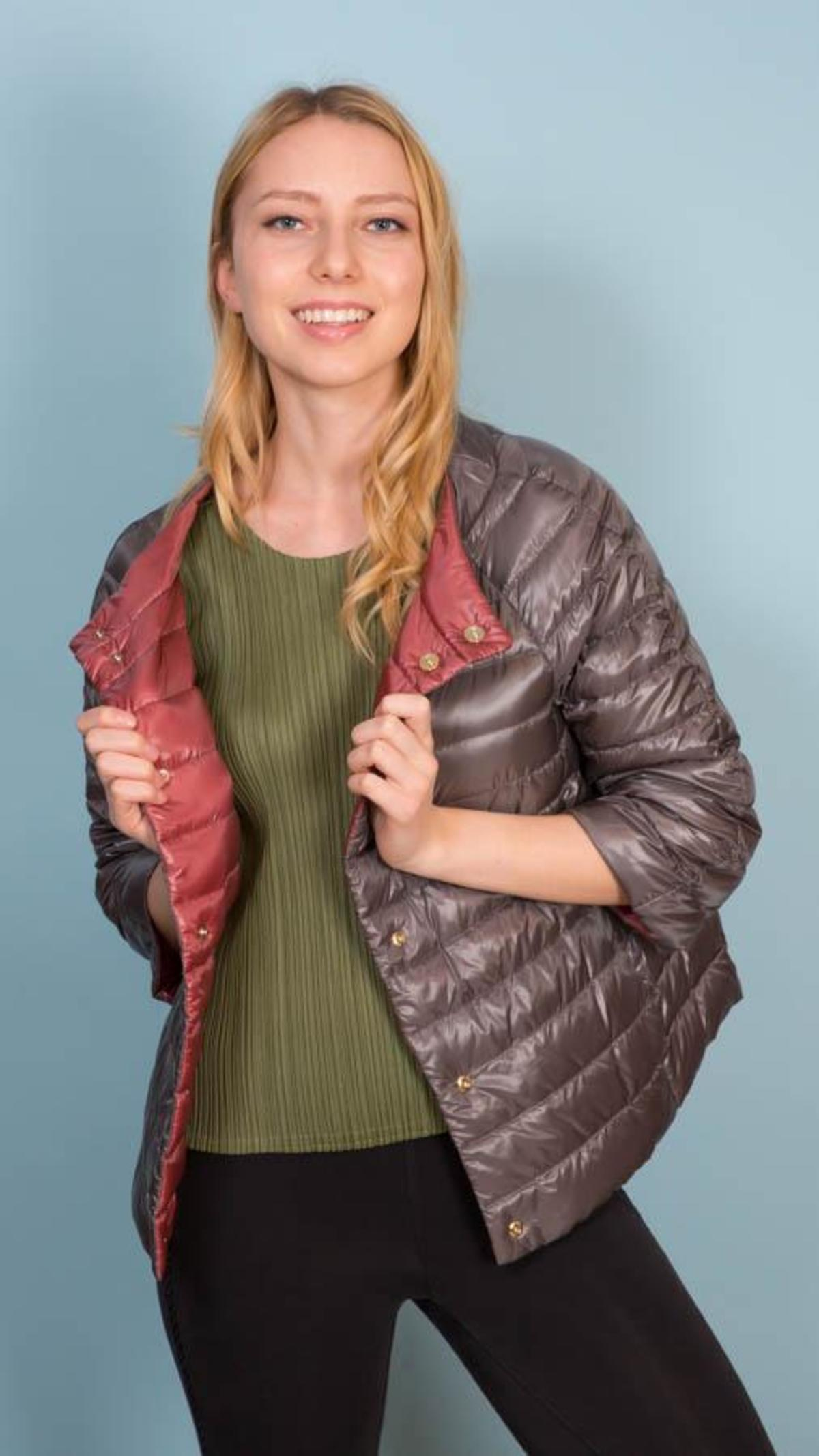 5e5388e51 Herno Reversible Quilted Down Jacket - Rust/Plum
