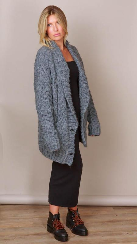 One On One Stubborn Cardigan Sweater - Grey Melange