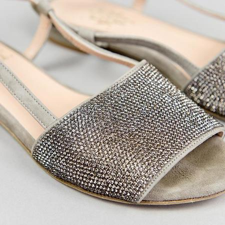 Eleventy Suede Sandals - Gray