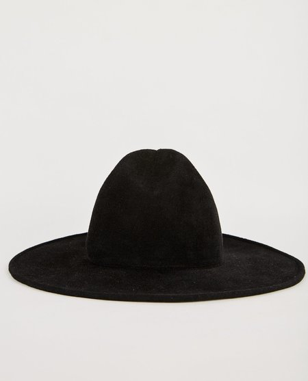 Esenshel ACORN WIDE BRIM HAT - BLACK